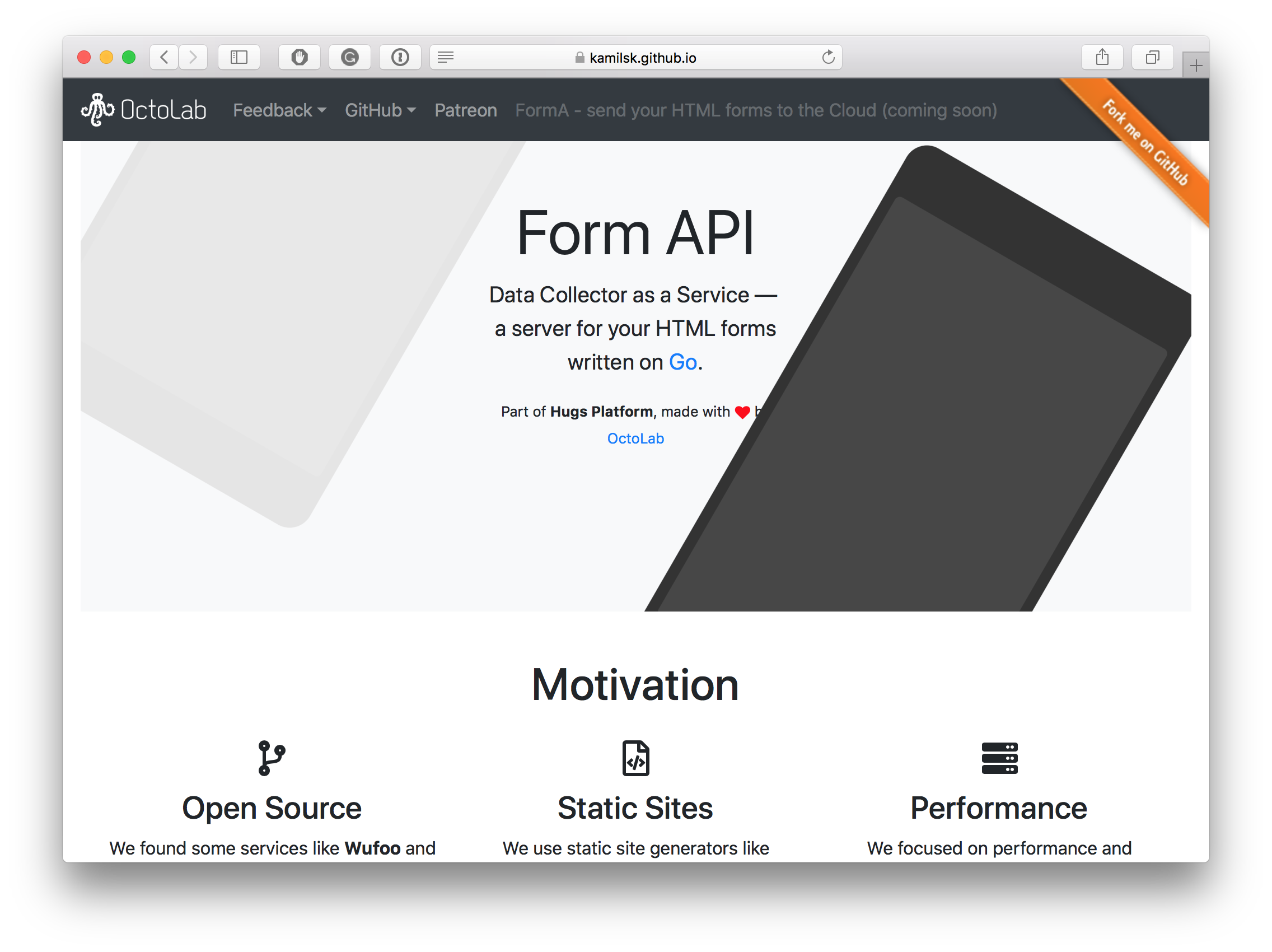 Form API. Data Collector as a Service - a server for your HTML forms written on Go